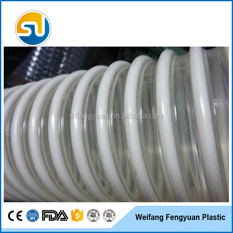 pump inlet water pipe pvc material suction spiral hose pipe