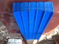 Factory 0.180mm blue trapezoidal roofing sheet YX25-210-840/1050,Africa popular red corrugated roofing sheet