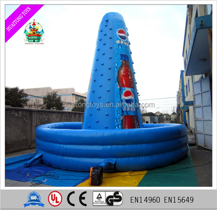giant inflatable rock climbing equipment rotatintg climbing wall for sale