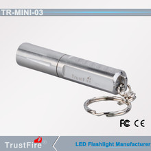 Led outdoor light TrustFire Mini-03 mini flat led flashlight, 200lm mini R5 led rechargeable flashlight keychain torches