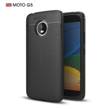 New style shookproof leather design tpu mobile phone cover case for Moto G5