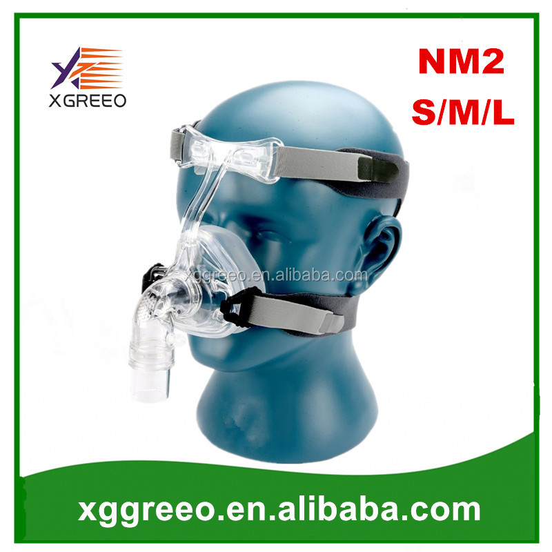 XGREEO NM2 Nasal Mask With Headgear Head pad S/M/L Different Size Suitable For CPAP Oxygen Machine Connect Hose And Face