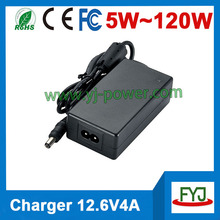 Smart high quality 11.1v lithium ion charger 12.6v 4000ma lithium ion battery 3.7v 3cells