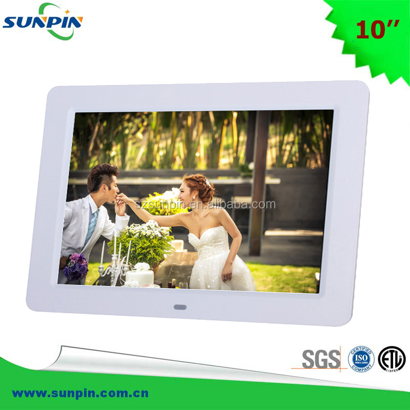 10 inch Bulk Digital Photo Frame, LCD digital picture frame with 720P/1080P Decoding