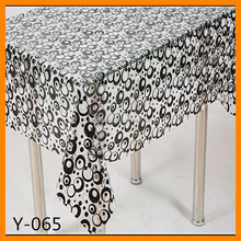 High quality printed vinyl pvc lace embroidery sunflower tablecloth