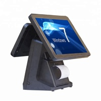 Android/Windows Dual screen POS System 15 Inch Touch Screen Rfid POS All In One Cash Register System