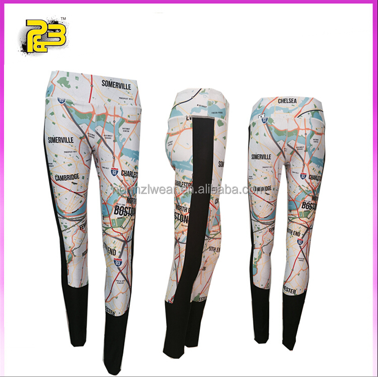 Big size sexy women sports safety jogger pants compression tights professional custom