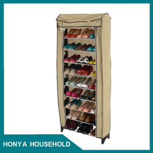 10 tier modern tall large plastic shoe cabinet