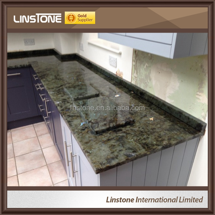 Labradorite Blue Australe Granite Slabs For Kitchen Countertop