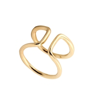 2016 fashion design simple style curve gold silver gold filled ring fashion gay power ring for men