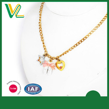 Customized high quality Zinc Alloy Metal Gold Plating Ballet shoes Gift sterling lobster claw Necklaces pendant for women