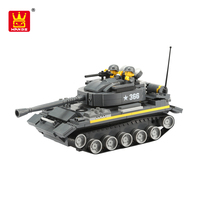 Wange Plastic Connecting Building Blocks Military Tank Toys Construction For Kids Educational