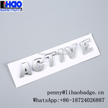 ABS chrome car letter logos,ABS badges,car grille emblem badges