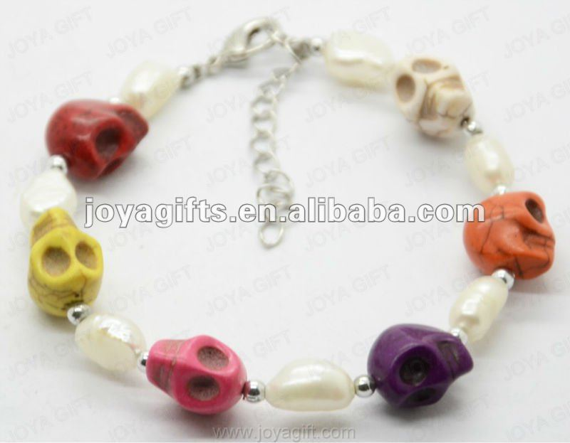 2012 Fashion Joya Colorfull Lucky Skull Bracelet