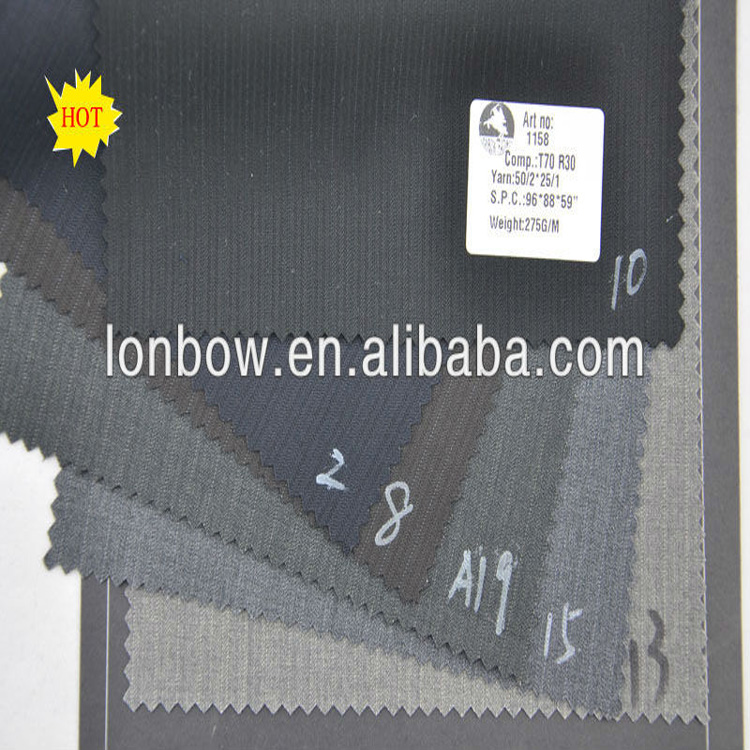 wholesale fine quality t/r men's suiting fabric in stock