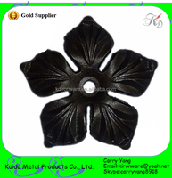 Factory Prices Cast Steel Craft Wrought Iron Flowers and Leaves, Metal Flowers and Leaves