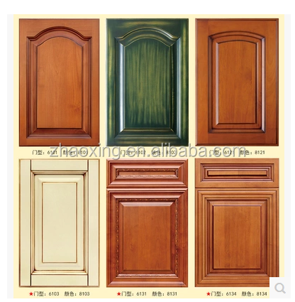 2016 Popular Solid Wood Design Kitchen Cabinet Door