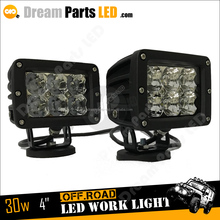 4inch 30w driving light 12v 24v scania led work lights for trcuk jeep offroad