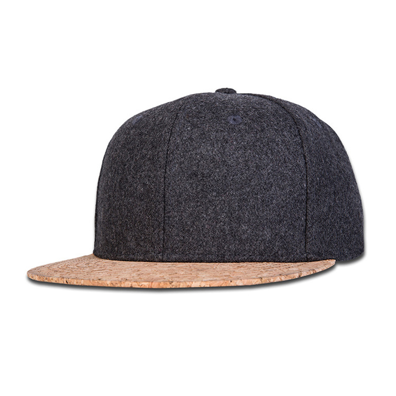 New Winter Hip Hop Hat Unisex Woolly Baseball cap Solid faux wood flat brim snapback hat