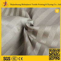 Poly Cotton Bleached Wholesale Hotel Stripe Satin Jacquard Bedding Set for 2 -5 Star Hotels