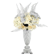 European Home Furnishing jewelry creative fashion decoration peacock gold wedding gift craft ceramic vase room on the move zx