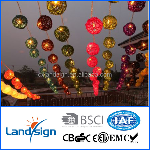 Alibaba discount christmas outdoor led rattan ball string light