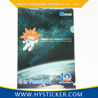 Hot sale customize pp printed plastic clear expanding file folder