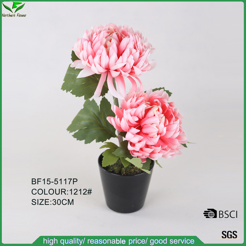 30 CM 2 Flower Heads Artificial Dahlia Flower Wholesale