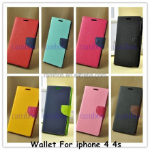 Flip Wallet Leather Case Cover Coque Housse Etui for iphone 4 / 4S / 5 / 5S / 6 / 6 Plus / 5C