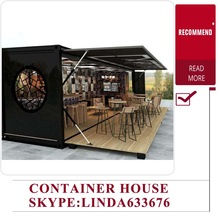 China suppliers Mobile Pop-Up coffee shop container design / 20ft prefabricated shipping container coffee shop