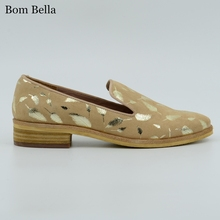 BBLA672 wholesale China factory women flat shoes pictures casual leather ladies shoes