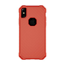 4 point Rear Guard Free Sample Shockproof Case for iPhone 8 8 Plus , Square Pattern Phone Cover for iPhone X Case