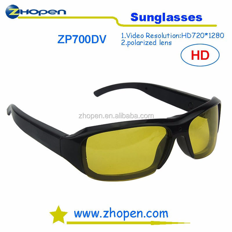 HD 720p Camera Sunglasses 5.0MP 720*1280 Video Sunglasses Hidden Camera With Polarized Lens For Driving