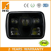 "5x7 led headlights square 7"" headlight hi lo for atv 5x7inch led headlight"