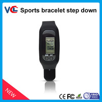 wristband calories pedometer_colorful sports bracelet edometer for gift