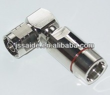 "N plug 90 degree angle connector for 1/2"" feeder cable"