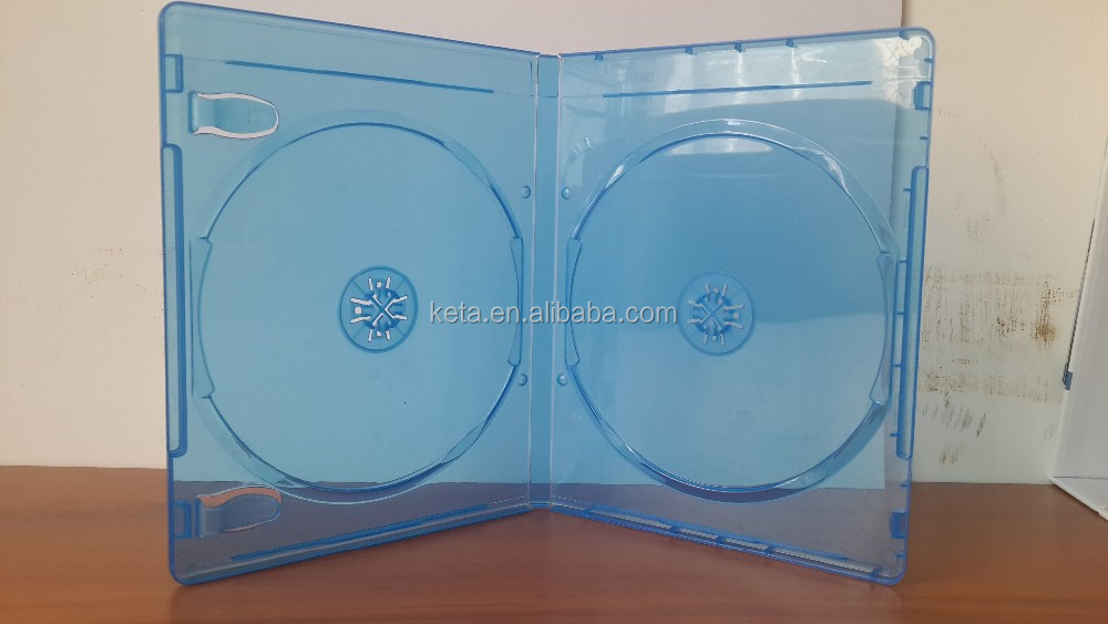 Elegant 11mm Transparent Double DVD Blu-ray Case With Logo