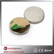 "N45 1/2"" x 1/16"" Strong Neodymium Rare Earth Hard Disc Magnets with 3M Adhesive for Sale"