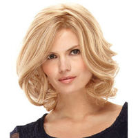 Beauty style Celebrity short blonde bob style human hair wig for white women, accept escrow payment