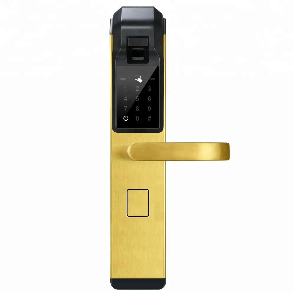 2018 Advanced Smart Home Hotel Security Keyless Fingerprint Door Lock System Double Sided Biometric Made In China