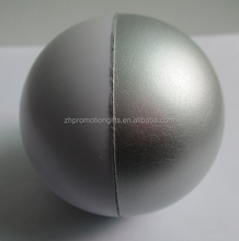 High quality pu stress balls wholesale 61mm customized logo two-tone anti stress soft ball