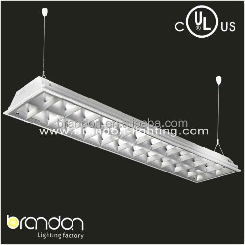 4 Lamp T8 Parabolic 2X4 Grid Light Fixture