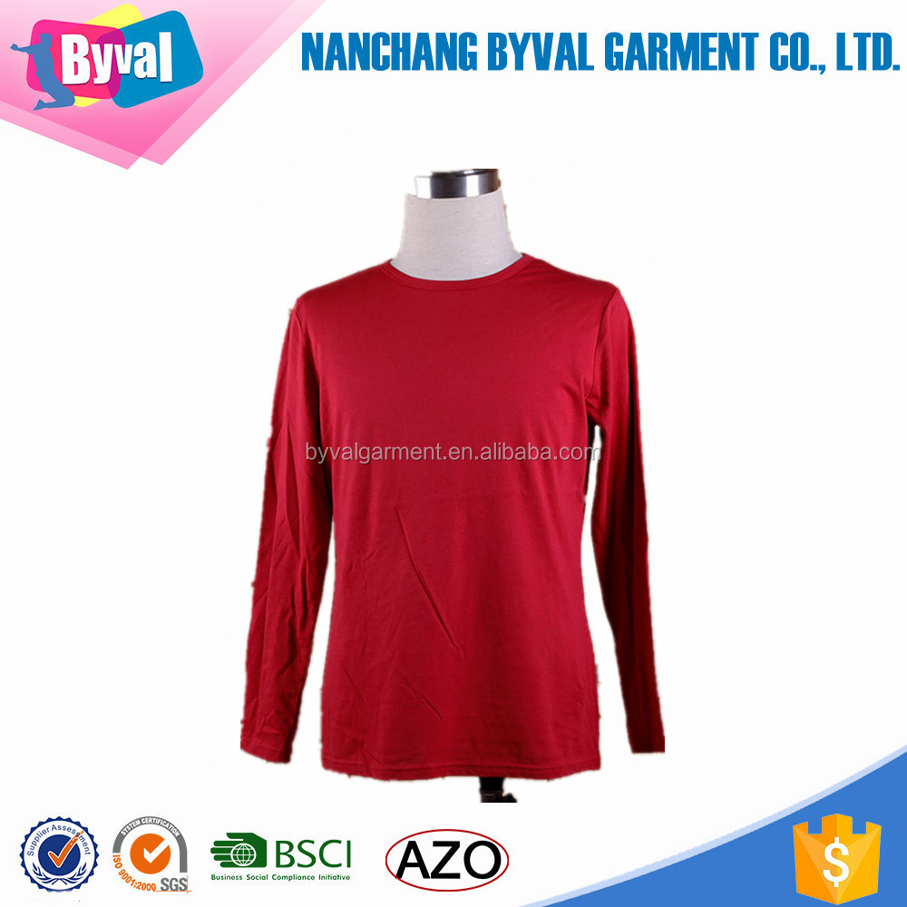 alibaba online shopping china import o neck t shirts in bulk plain 95 cotton 5 spandex t shirts 2 dollars long sleeve OEM