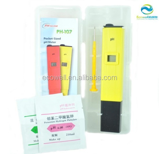 Pocket LCD Digital Liquid Ph and Chlorine Testers , ph meter price