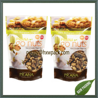 Matt finished standing Prana nuts ziplock packaging bags,150 nuts printed packaging bags with clear window