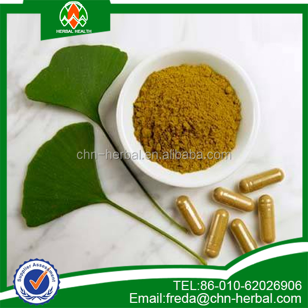 High quality ginkgo biloba leaf extract power , 100% Natural Ginkgo Biloba Extract
