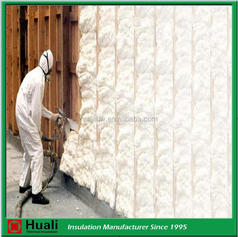 Fireproof closed cell spray polyethylene foam glass wool wall roof insulation