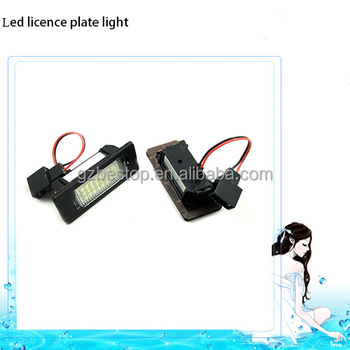 bestop high quality led License plate light for audi vw passat