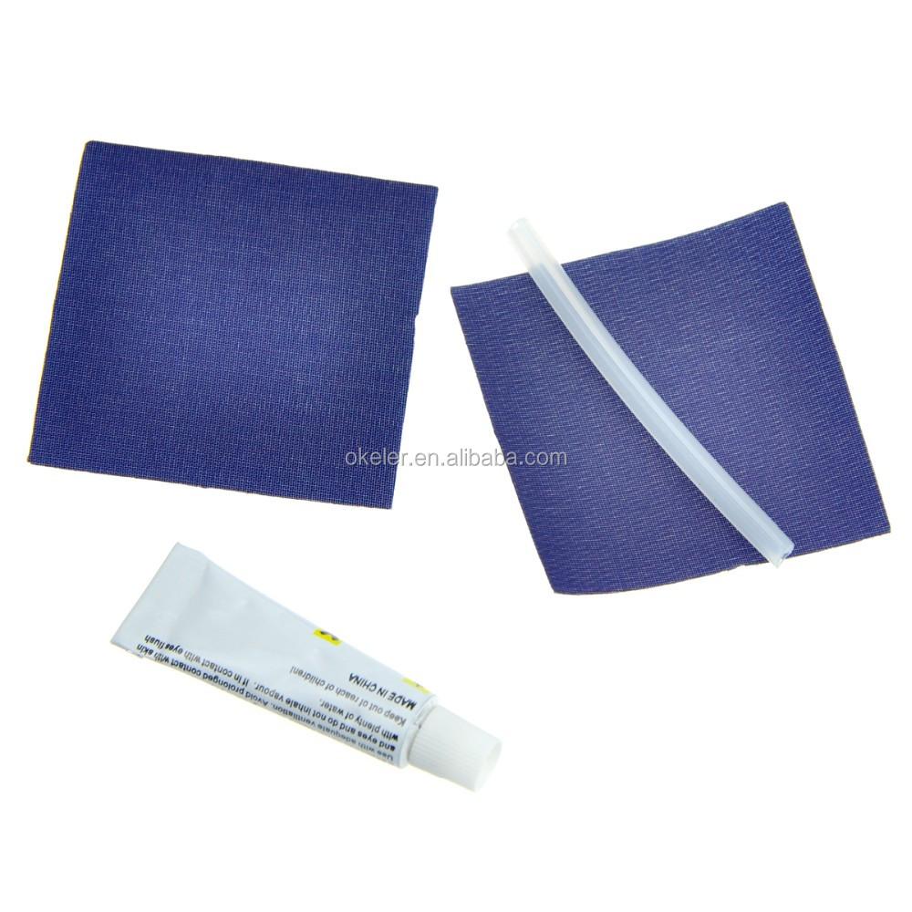 Azul escuro Acampamento Ao Ar Livre Automática Auto Inflar Adulto Esponja Almofada de Dormir Acolchoado Exercício Mat