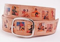 Lady Fashion Belt with different picture printing
